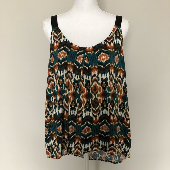 Willow & Clay Tops - Willow & Clay Top Tank Sleeveless Aztec Print